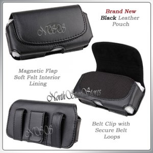fr APPLE iPHONE 3G 3GS S BLACK LEATHER CASE POUCH COVER