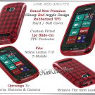 for NOKIA LUMIA 710 T-MOBILE ARGYLE PLAID TPU CANDY SILICONE RED CASE COVER SKIN