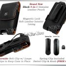 for MOTOROLA DROID 4 XT894 VERIZON BLK PREMIUM LEATHER COVER CASE POUCH HOLSTER