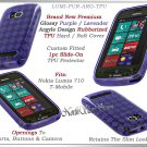 for NOKIA LUMIA 710 T-MOBILE ARGYLE PLAID TPU CANDY SILICONE LAVENDER CASE COVER
