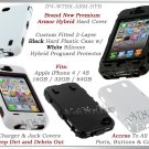 for APPLE iPHONE 4 4S 4G AT&T SPRINT VERIZON BLACK WHITE ARMOR HYBRID CASE COVER