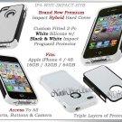 for APPLE iPHONE 4 4S ATT SPRINT VERIZON BLACK WHITE HYBRID IMPACT CASE GEL SKIN
