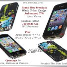 for APPLE iPHONE 4 4S ATT SPRINT VERIZON BLACK TPU SILICONE GEL CASE GUARD SKIN
