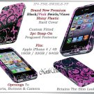 for APPLE iPHONE 4 4S AT&T SPRINT VERIZON HARD PINK FLOURISH SNAP-ON COVER SKIN