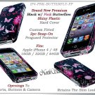 for APPLE iPHONE 4 4S AT&T SPRINT VERIZON HARD PINK BUTTERFLY SNAP-ON CASE GUARD