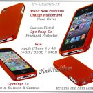 for APPLE iPHONE 4 4S AT&T SPRINT VERIZON HARD ORANGE RUBBERIZED CASE COVER SKIN