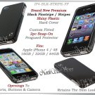 for APPLE iPHONE 4 4S ATT SPRINT VERIZON BLACK HARD SNAP-ON CASE COVER SKIN NEW