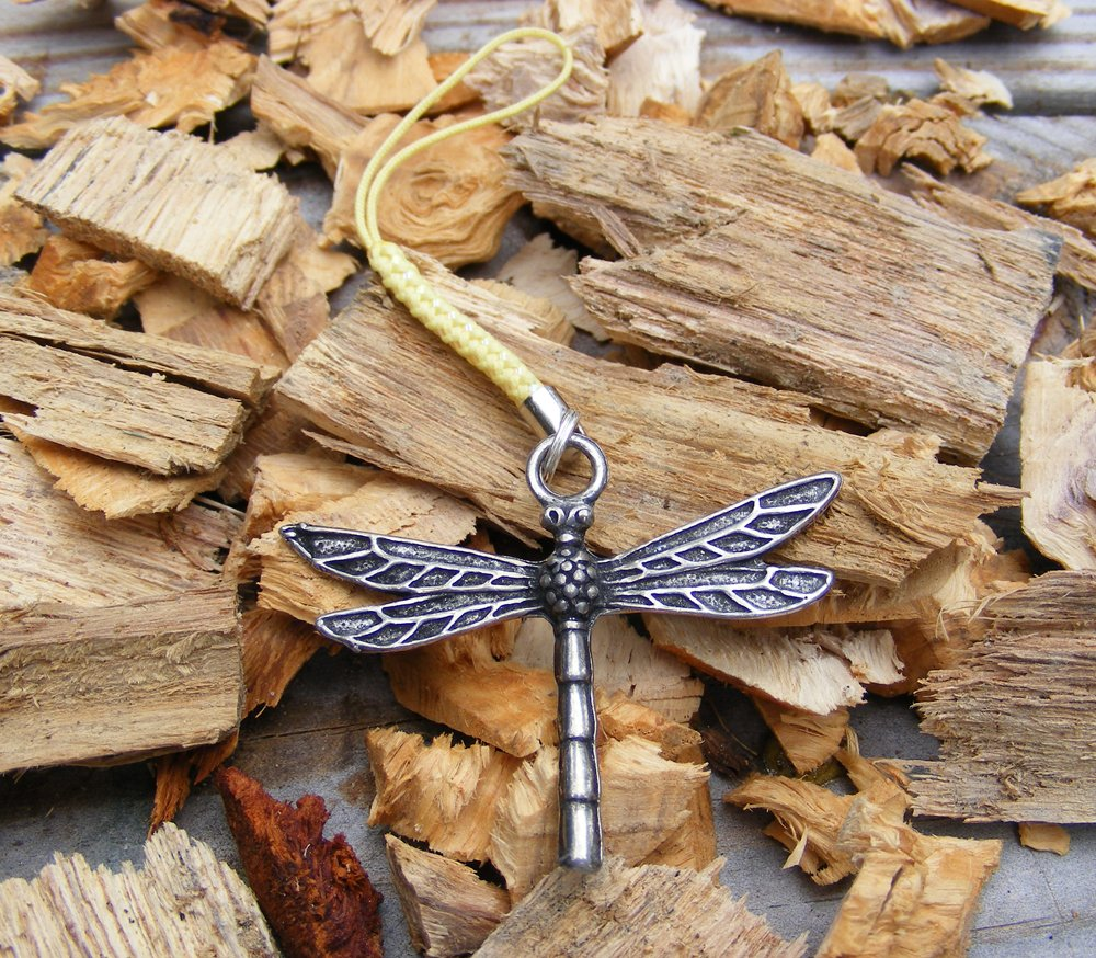 Handcrafted Zipper Pull Geocaching SWAG - dragonfly
