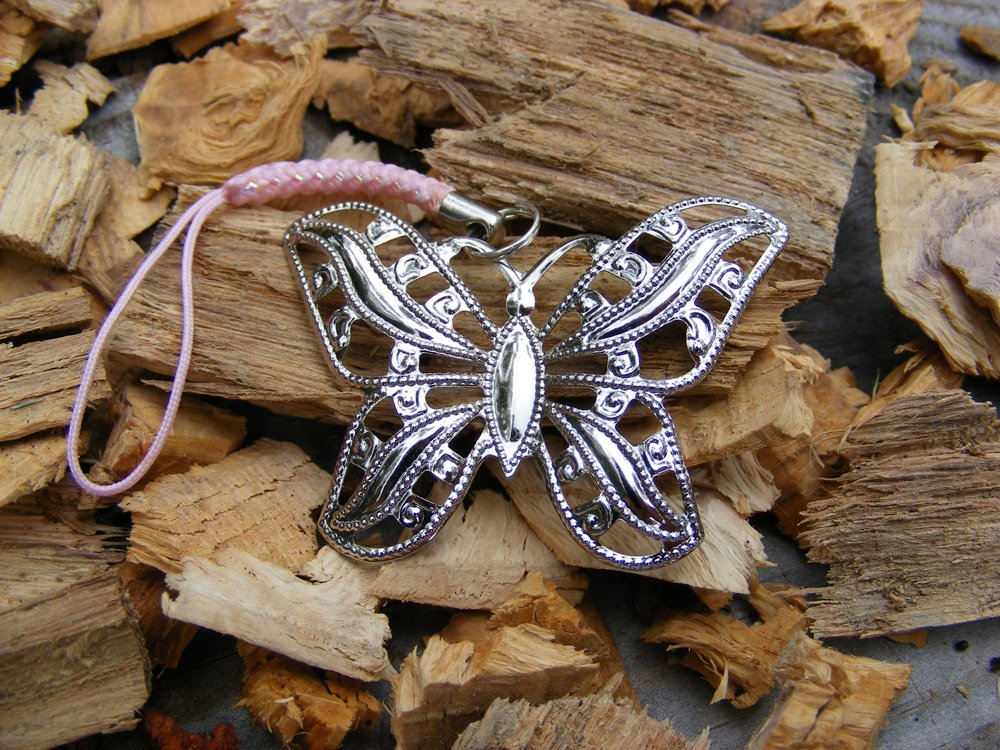 Handcrafted Zipper Pull Geocaching SWAG - Butterfly