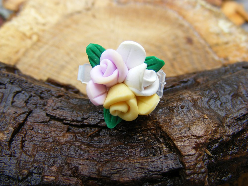 Bouquet Of Clay Roses Micro Geocaching Container