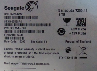 ST31000528AS (for data recovery parts)