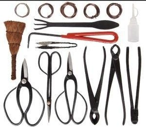 Bonsai tools - 10 pieces