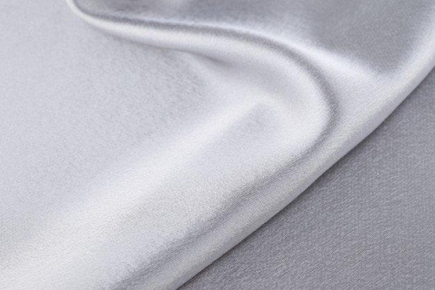 White silk, by the yard