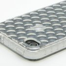 Bubble Pattern TPU Case for Apple iPhone 4 - Transparent