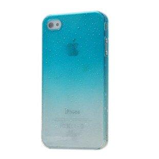 Raining Parttern Hard Case for iPhone 4 - Sky Blue