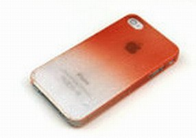 Raining Parttern Case for iPhone 4 - Orange