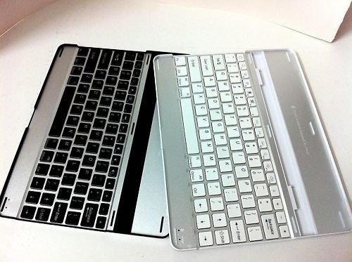Aluminum Bluetooth Wireless Keyboard Case for iPad2