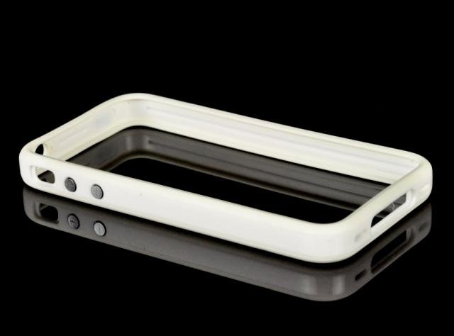 OEM SILICONE BUMPERS CASE FOR IPHONE 4 - White