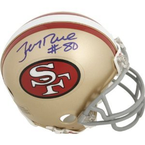 JERRY RICE SAN FRANCISCO 49ERS HOF SIGNED AUTOGRAPHED MINI HELMET MATCHING HOLOGRAMS NUMBERS COA $99