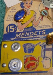 Vintage Mendets Water Leak Fixer for Pots and Pans