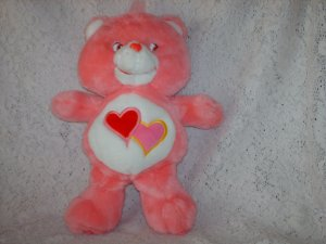 2002 Love a Lot Care Bear Plush Toy