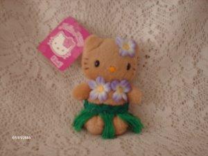 "Sanrio Hello Kitty  Hawaii 4"" Key Chain Plush"
