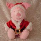 "12"" Santa Holiday Piglet Disney Store plush"