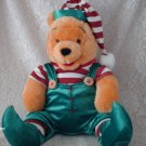 "16"" Disney Winnie The Pooh  Christmas Elf  Plush"