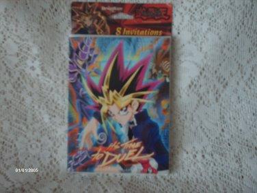 1996 Yu-Gi-Oh!  8 Invitations cards