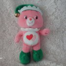 "2007 9"" Care Bears LOVE-A-LOT Christmas ELF Plush"
