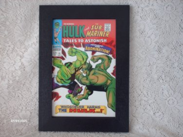 2008 MARVEL COMICS ART FRAME THE INCREDIBLE HULK AND THE SUB-MARINER - LIMITED ED. # 12006