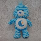 "2004 8"" Care Bears Bedtime Bear Plush Toy w/ stripes"