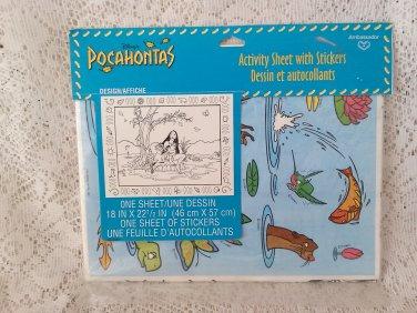 Disneys Pocahontas Activity Sheet With Stickers