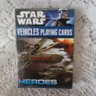 Star Wars vehicles playing cards HEROES