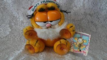 1978 1981 Garfield xmas stuck on you window clinger plush