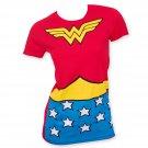 Wonder Woman Suit Up Women's Tee Shirt Red