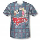 American Dad Family Sublimation T-Shirt Blue