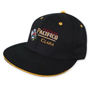 Pacifico Flat Bill Hat Black