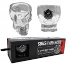 Sons Of Anarchy Skull Shot Glass 4-Set Clear