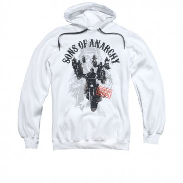 Sons Of Anarchy Reapers Ride Pullover Hoodie White