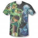 Green Lantern Men's Sublimation Guardians Tee Shirt Black
