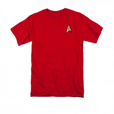 Star Trek TOS Engineering Uniform Costume T-Shirt Red