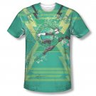 Green Lantern Wield The Power Sublimation Green Tee Shirt Green