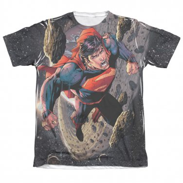 Superman Up Up Sublimation T-Shirt Black
