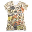 Justice League All Stars Sublimation Juniors Tee Shirt Beige