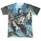 Batman Men's Sublimation Dark Knight Tee Shirt Blue
