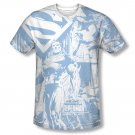 Superman Man Of Steel Collage Sublimation T-Shirt White