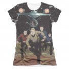 Star Trek TOS Running Sublimation Juniors T-Shirt Black