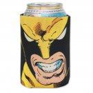 Wolverine Marvel X-Men Comic Book Face Beer Can Koozie Black