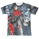 Batman Harley Quinn Nice Shot Sublimation Juniors Tee Shirt Gray